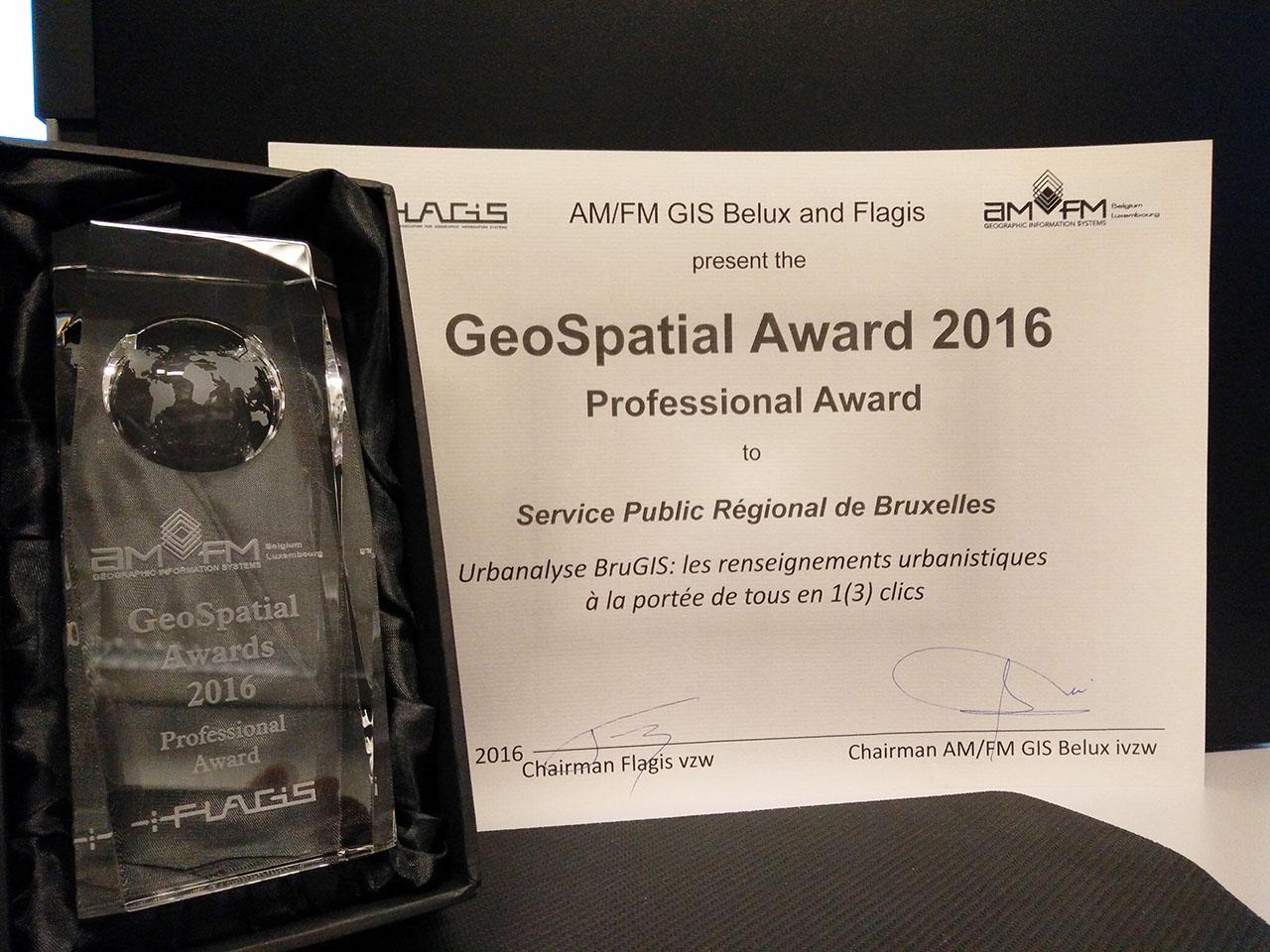 Een GeoSpatial Award voor BruGIS